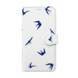 ツバメシルエット Book-style smartphone case