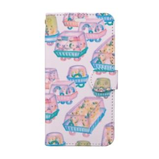 オソーザイカー・モーニング Book-style smartphone case