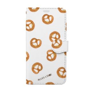 プレッツェルたくさん Book-style smartphone case