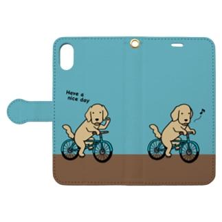 bicycle 3(ブルー) 手帳型スマートフォンケース