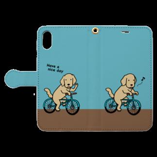 efrinmanのbicycle 3(ブルー) Book style smartphone caseを開いた場合(外側)