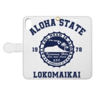 COLLEGE STYLE  LOKOMAIKAI Book-style smartphone case
