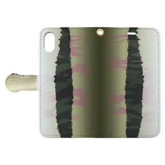 サケの開き Book-style smartphone case