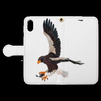 gomaphの空の王者オオワシ Book style smartphone caseを開いた場合(外側)