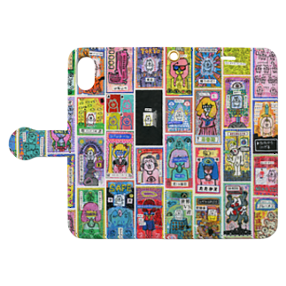 福留茜のレシートドロウイング Book style smartphone caseを開いた場合(外側)