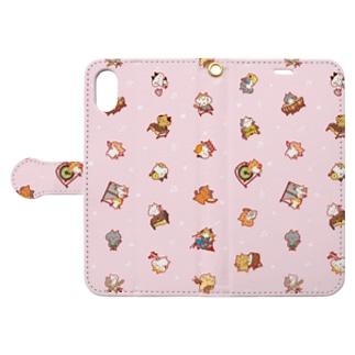ふじねこ*パーカッション Book-style smartphone case