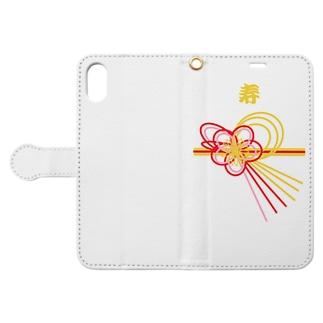 寿 お祝 Book-style smartphone case