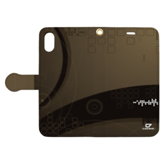 BROWN GEOMETRIC Book-style smartphone case
