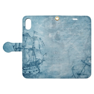 BLUE ATLAS Book-style smartphone case