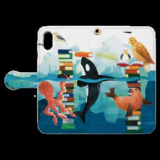 gomaphの海の図書館 Book style smartphone caseを開いた場合(外側)