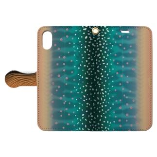 ミヤベイワナの開き〈婚姻色〉 Book-style smartphone case