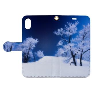樹氷02 Book-style smartphone case