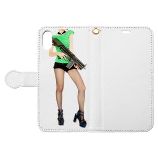 grumble gun girl  Book-style smartphone case