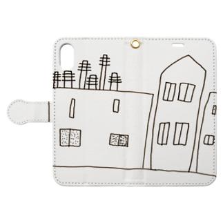 まちなみ by harutonoe Book-style smartphone case