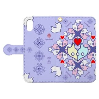 浪漫花-ROMANKA-/ラベンダー Book style smartphone case