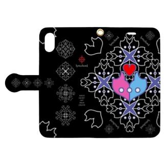 浪漫花-ROMANKA-/ブラック Book-style smartphone case
