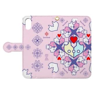 浪漫花-ROMANKA-/桜 Book style smartphone case