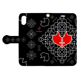 浪漫花-QUEEN-/ブラック Book-style smartphone case