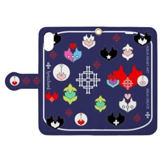 lyricchordエンブレム/ネイビー Book style smartphone case