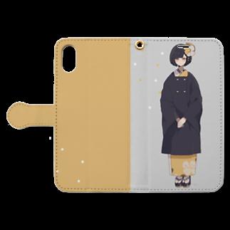 macoのおめかし Book style smartphone caseを開いた場合(外側)