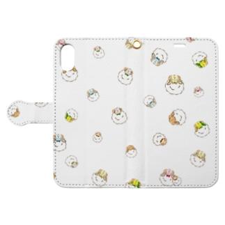 ねじゅみ×ひつじ ミニ Book style smartphone case