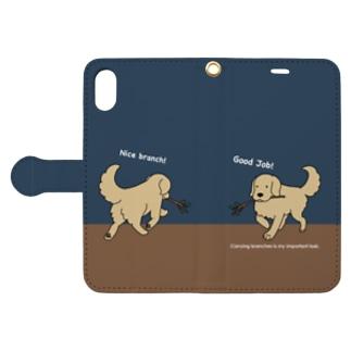 good job(ネイビー) Book style smartphone case