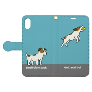 giant&go(ブルー) Book style smartphone case