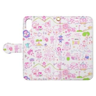 いろいろあるな〜 Book style smartphone case