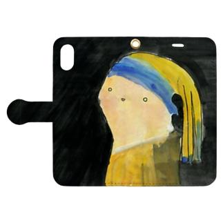 真珠の耳飾りをつけた少女 Book-Style Smartphone Case