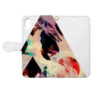 ▲4【三角形の穴】  Book-style smartphone case