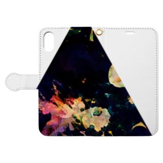 ▲5【三角形の穴】  Book-style smartphone case