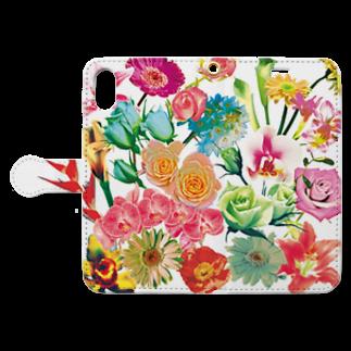 ブティック★なみのFlowers Book-style smartphone caseを開いた場合(外側)