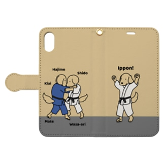judo(イエロー) Book-style smartphone case
