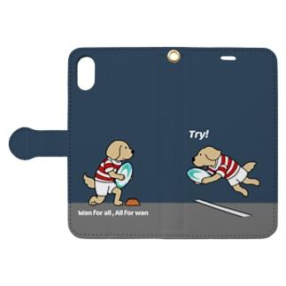 ラグビー(ネイビー) Book-style smartphone case