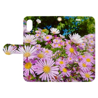 Pink flowers  Book-style smartphone case