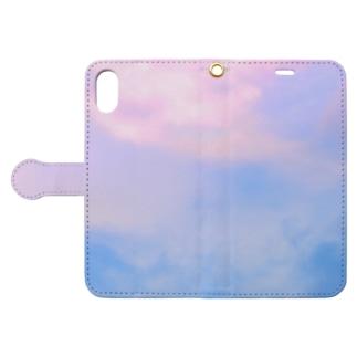 Gradation Sky Book-style smartphone case