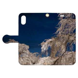 susuraの枝垂れ桜 Book-style smartphone caseを開いた場合(外側)
