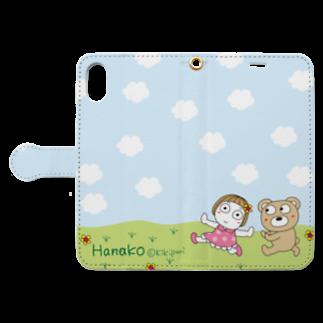 キキぷりのカスタムのテケテケ。 Book-style smartphone caseを開いた場合(外側)
