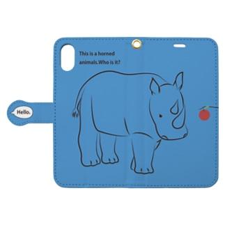 サイ_blue Book-style smartphone case
