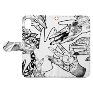 抽象画スマホケース Book-style smartphone case