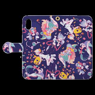 Ten-seN.のハロウィンガールズ Book style smartphone caseを開いた場合(外側)