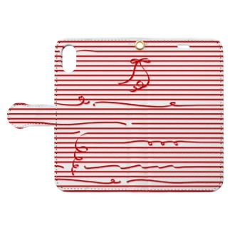 Red Stripes Book-style smartphone case