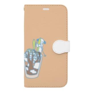 うびのスマホ(skiing) Book-style smartphone case