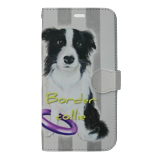 Border collie Book style smartphone case