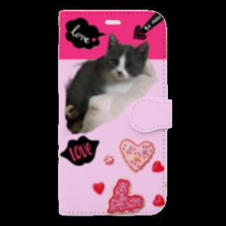 Jasmine工房のHさまご依頼品♡ルイちゃんスマホケース Book-style smartphone case