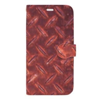 サビサビ鉄板 Book-style smartphone case
