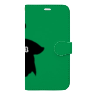 Halfmoon Betta①Black(Evergreen) Book-style smartphone case