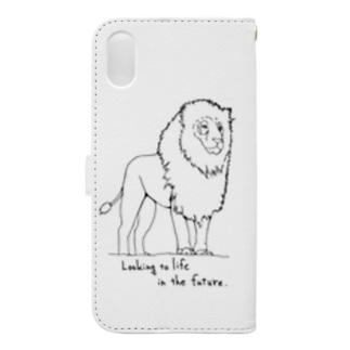 ライオン Book-style smartphone case
