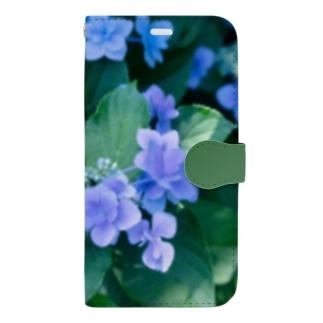 アジサイ(緑) Book-style smartphone case