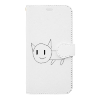 SCP呼ばわりされた猫 Book-style smartphone case
